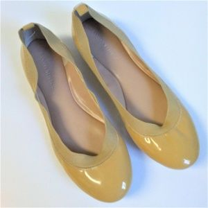 Banana Republic Mustard Tan Elastic Trim Flats 7M